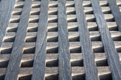 Boat gangway close up. Boat gangway made with wood squares  close up Royalty Free Stock Image