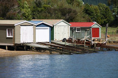Boat garages Royalty Free Stock Photography