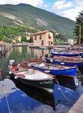 Boat on Garda lake, Italy Stock Photography