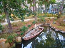 Boat garden royalty free stock photos