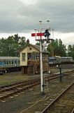 Boat of Garten signal and signal box Strathspey Railway Scotland. The Strathspey Railway SR in Badenoch and Strathspey, Highland, Scotland, operates a 10 miles stock images