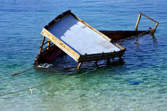 A boat go down Royalty Free Stock Photography