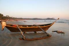 Boat goa. Boat near ocean in palolem beach goa India Royalty Free Stock Photography
