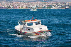 Boat on golden horn in Istanbul Stock Images