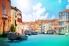 Boat on grand canal Royalty Free Stock Image