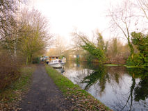 Boat  on The Grand Junction Canal  near Uxbridge Royalty Free Stock Photography