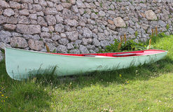 Boat on the grass. A boat on the grass Royalty Free Stock Photo