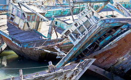 Boat Graveyard India Texture Royalty Free Stock Photo