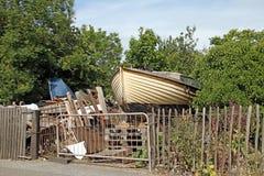 Boat graveyard Royalty Free Stock Photos