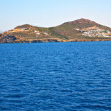 From the boat greece islands in mediterranean sea and sky Stock Image