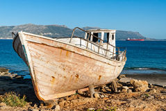 Boat in Greece Royalty Free Stock Photo