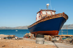 Boat in Greece Royalty Free Stock Photos