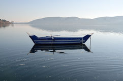 Boat with greek flag painted on it Stock Image