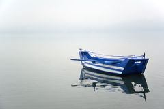 Boat with greek flag painted on it Stock Photography