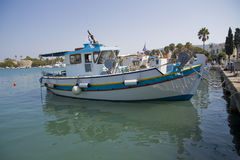 Boat on Greek island Stock Photography