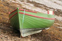 Boat grounded Stock Image