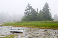 Boat Grounded In Fog Royalty Free Stock Photography