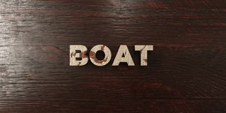 Boat - grungy wooden headline on Maple  - 3D rendered royalty free stock image Royalty Free Stock Photography