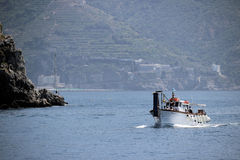 Boat in the Gulf of Salerno Stock Image