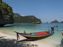 Boat in the gulf of thailand. Boat in Tao bay in the gulf of thailand Stock Images