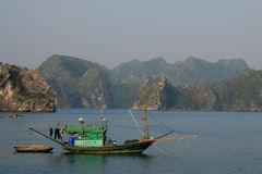 Boat in Halong Bay Royalty Free Stock Images
