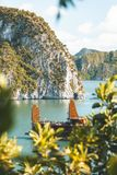 Halong Bay in Vietnam royalty free stock photo