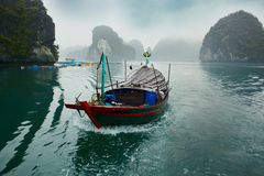 Boat in Halong Royalty Free Stock Photos