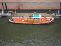 Boat in Hamburg port. HAMBURG, GERMANY - CIRCA MAY 2017: Boat in Hamburg port Royalty Free Stock Image