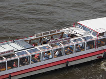 Boat in Hamburg port. HAMBURG, GERMANY - CIRCA MAY 2017: Boat in Hamburg port Royalty Free Stock Images