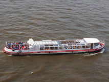 Boat in Hamburg port. HAMBURG, GERMANY - CIRCA MAY 2017: Boat in Hamburg port Royalty Free Stock Photography