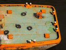 Boat in Hamburg port hdr. HAMBURG, GERMANY - CIRCA MAY 2017: Boat in Hamburg port, hdr Royalty Free Stock Images