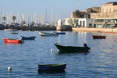 Boat harbor. In Cascais, Portugal stock photo