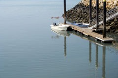 Boat in harbor Stock Photography