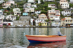 Boat In Harbor Area of Grenda In The Caribbean Stock Photos