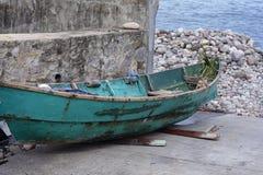 Boat In Harbor Area of Grenda In The Caribbean Stock Photo