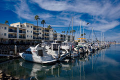 Boat Harbor in California.. Royalty Free Stock Photography