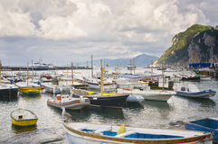 Amalfi Coast Harbor, Capri Italy stock photo