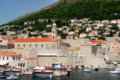Boat harbor, Dubrovnik Croatia Stock Image
