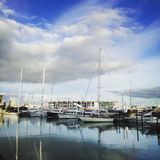 Boat harbor stock images