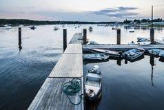 Boat harbor stock image