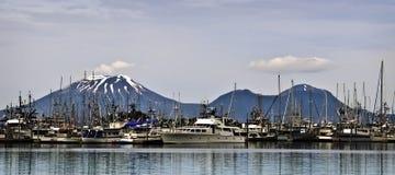 Boat Harbor, Sitka Alaska Stock Image