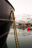 Boat in Harbor in Valdez Alaska Stock Photo