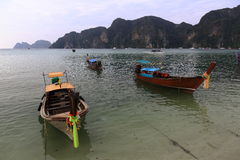 Boat harbour, beach, Tonsay Bay, Phi Phi, Thailand Royalty Free Stock Photo