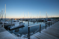 Boat harbour at Northport, Michigan. Boats moored in the harbour at Northport, Michigan Royalty Free Stock Images