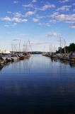 Boat harbour, Oslo, Norway. Calm evening in a harbour in Oslo, Norway Stock Photography