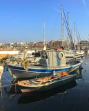Boat harbour. In Thessaloniki Stock Photos