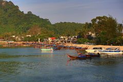 Boat Harbour, Tonsai Bay, Phi Phi,  Thailand Royalty Free Stock Images
