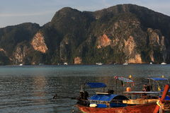 Boat Harboure, Tonsai Bay, Phi Phi,  Thailand Stock Photos
