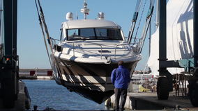 Boat Hauling stock video footage