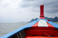 A boat head in the sea. Thailand Stock Photo